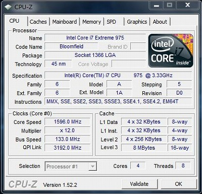 e9290jpでCPU-Z