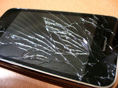 iphoneのフロントガラス大破 拡大