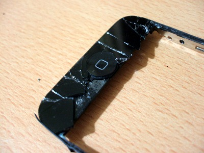 iPhoneホームボタン周りのガラス