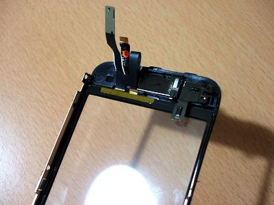 iPhoneガラスパネルの裏側