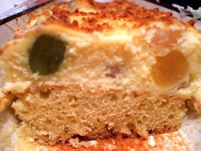 4種の豆ときな粉の和プレミアムチーズケーキ 断面