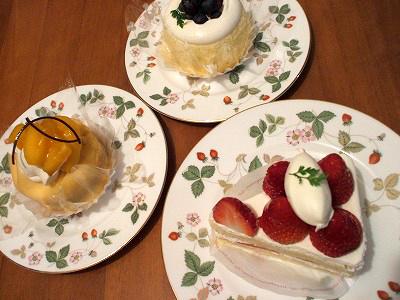 シーキューブのケーキ