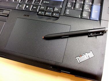 Thinkpad W700 デジタイザやペン