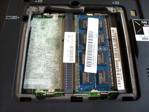 X201のメモリスロット