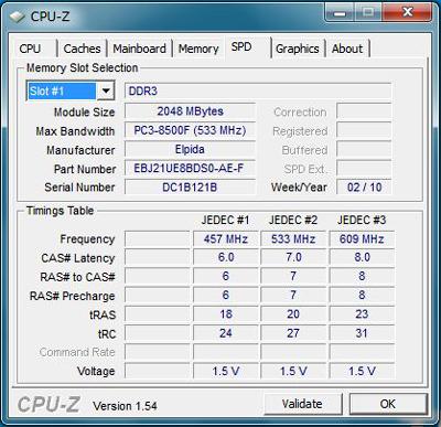 ThinkPad X201 メモリスピード