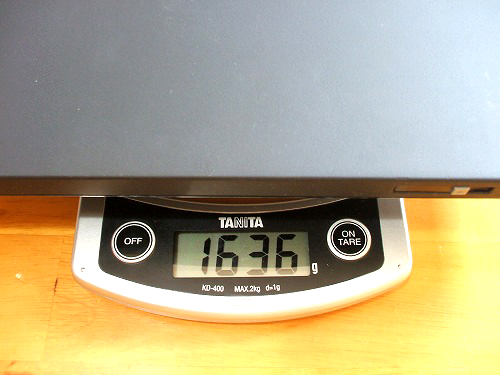 X60の重量拡大