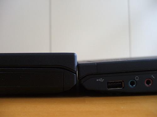 X201とT410の前面の厚み比較