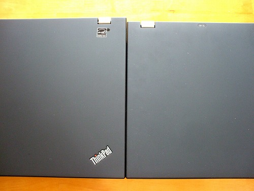 ThinkPad T510とT410の比較 奥行1