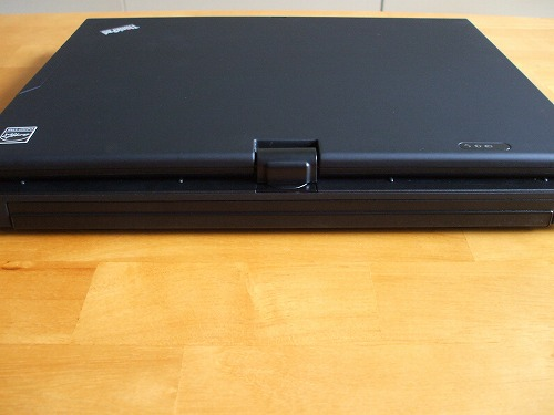 X201 tablet の背面