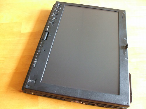 X201 tablet タブレット状態