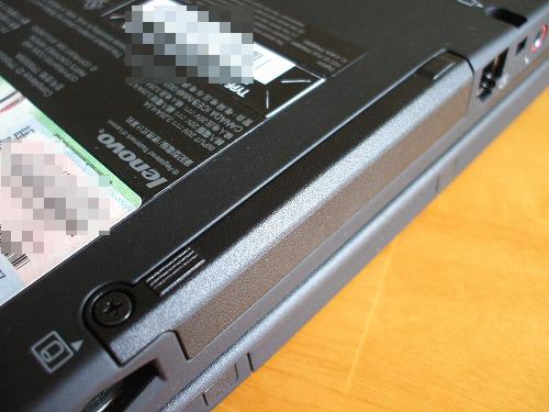 X201 tabletのHDDベイ