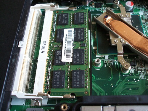 SL510のメモリスロット