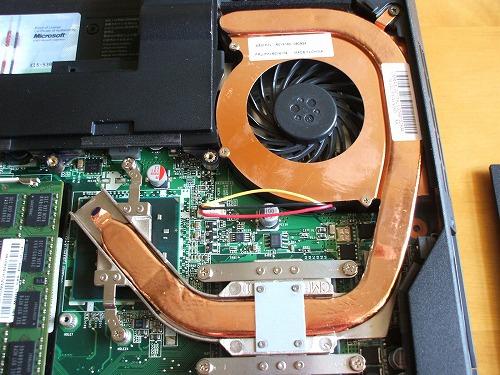 SL510の冷却ファン