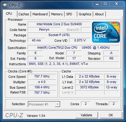 U450pのプロセッサ