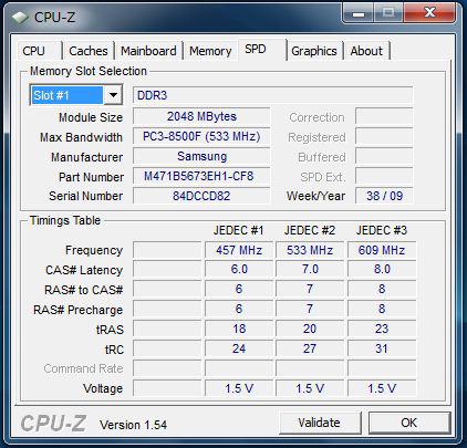 U450p メモリスロット1の情報