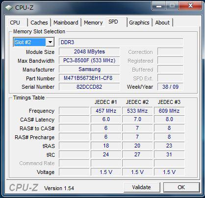 U450p メモリスロット2の情報