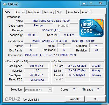 SL510のCPU