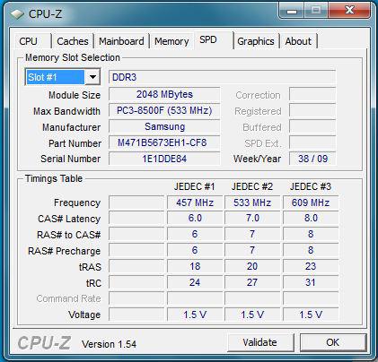 SL510 メモリの情報