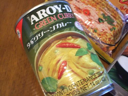グリーンカレーの缶詰