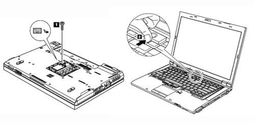 Thinkpad T410・T510 キーボード取り外し手順