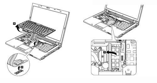 Thinkpad T410・T510 キーボード取り外し手順2