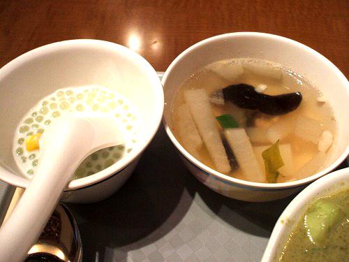 スープとタピオカココナッツ
