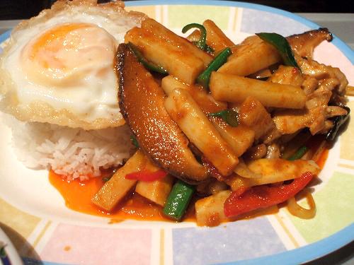 鶏肉と竹の子 ピーマンの炒めライスセット