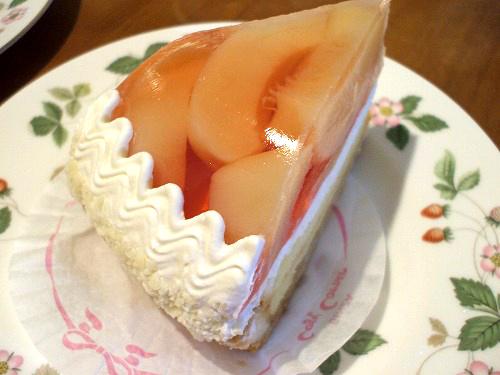 白桃のタルト