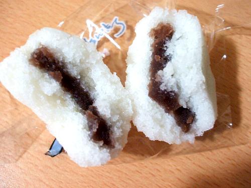 桜島山かるかんの断面