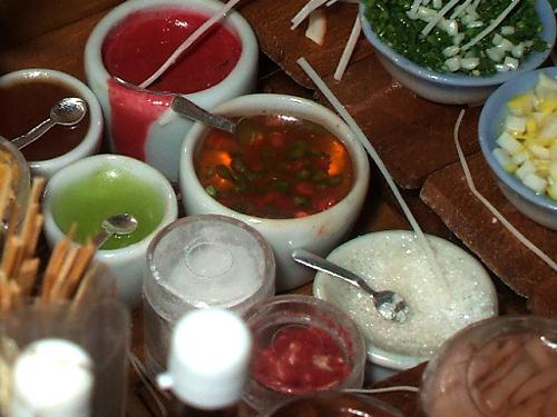 タイ調味料のミニチュア