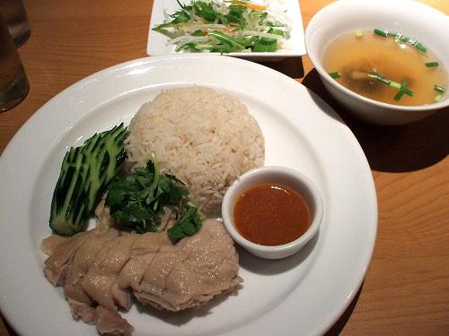蒸し鶏ご飯 特製味噌ソース添え(カオマンガイ)