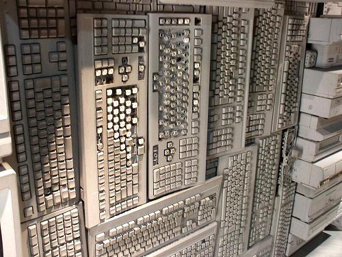壁と一体化したキーボード