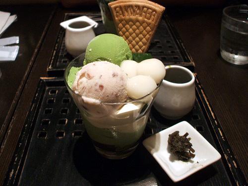濃茶パフェ