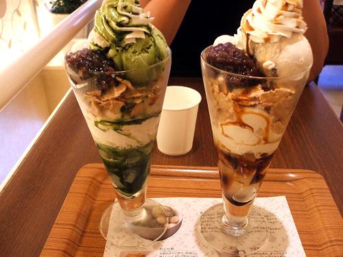 nana's green teaのパフェ