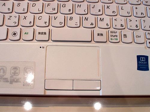 IdeaPad U160 タッチパッド