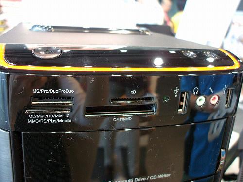 K320の本体前面上部のインターフェース