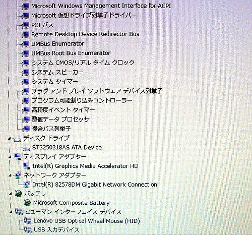 ThinkStation E20 デバイスマネージャ2
