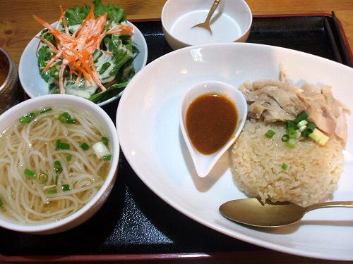 タイ風蒸し鶏のチキンライスセット
