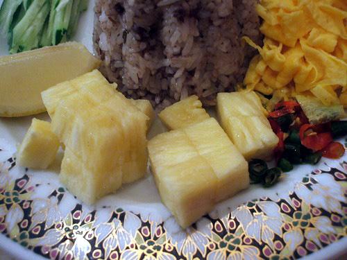 パイナップルと唐辛子
