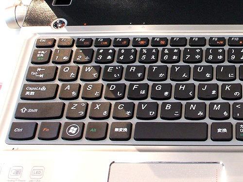Z560 キーボード左側