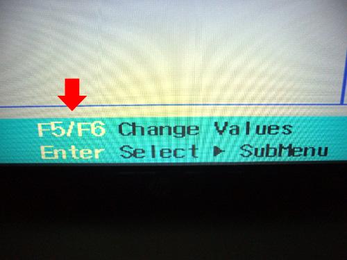 dv6a BIOSの操作方法