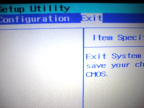 dv6a BIOS設定終了