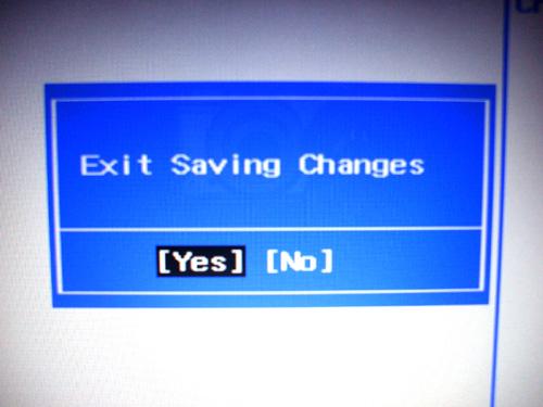 dv6a BIOS設定終了のダイアログ