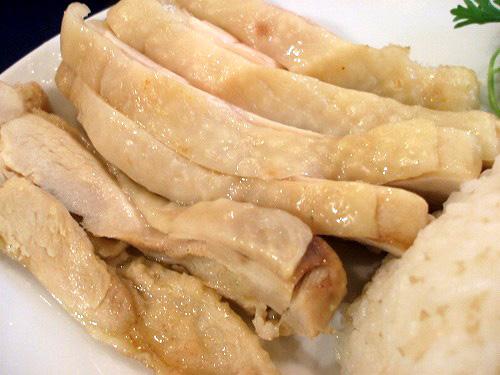 カオマンガイの蒸し鶏