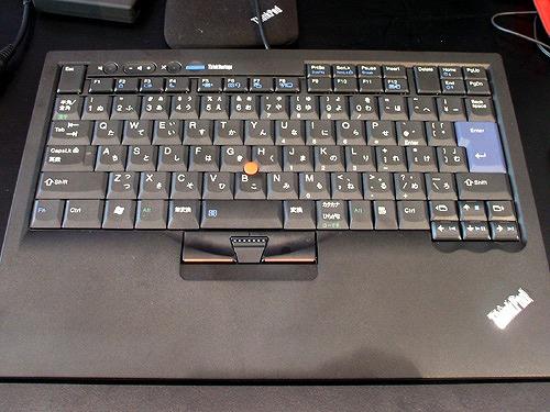 トラックポイント USBキーボード全体