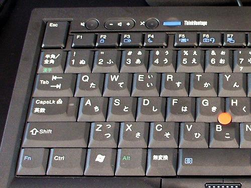 トラックポイント USBキーボード左側