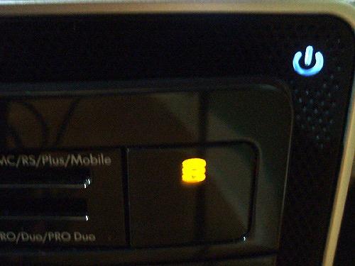 HPE 280jp 電源オン時のインジケーターランプ