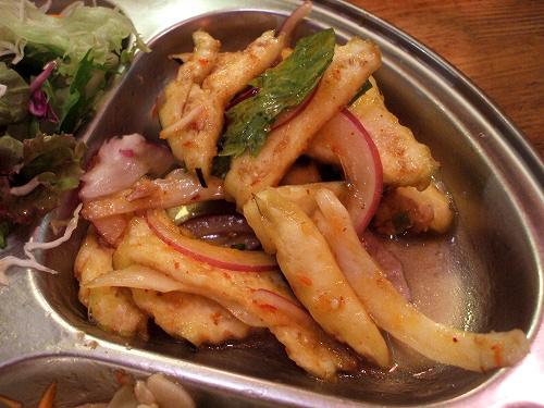 茄子と豚肉のピリ辛サラダ
