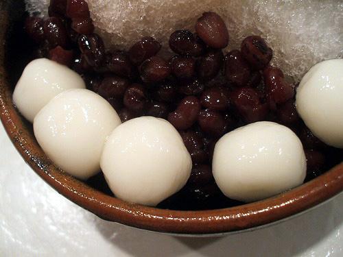 小豆と白玉たっぷり
