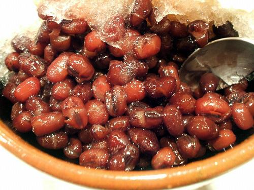 小豆たっぷり